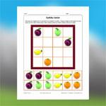 Sudoku de fruits 3