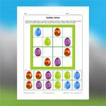 Sudoku des oeufs de Pâques