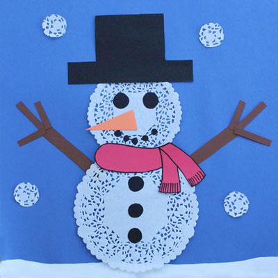 Petit bonhomme de neige animassiettes - Bonhomme de neige en pompon ...