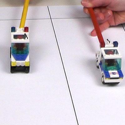 Course de voitures Lego