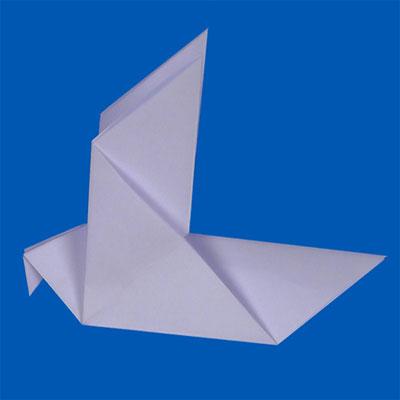 Colombe en origami