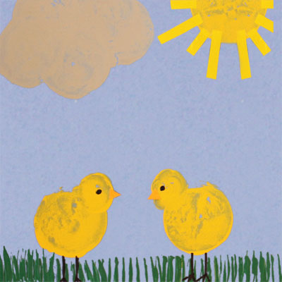 Peinture avec pomme de terre
