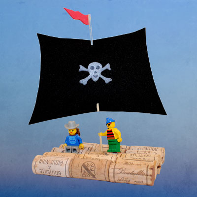 Radeau de pirates