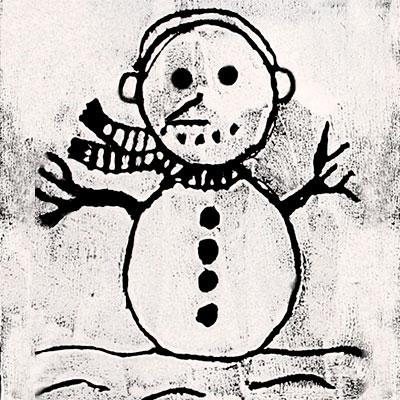 Impression de bonhomme de neige