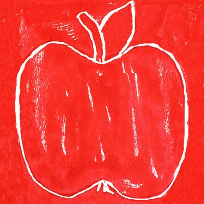 Gravure de pommes