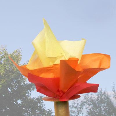 Flambeau olympique avec un tube