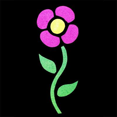 Vitrail de fleur